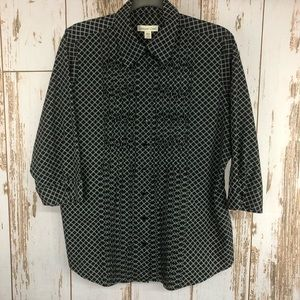 Coldwater Creek Button Up Blouse, Size 1X.